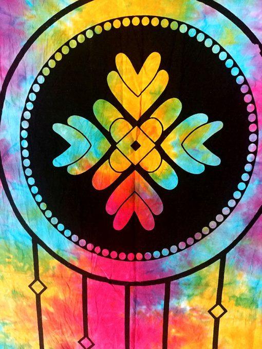 Tenture murale attrape reves dreamcatcher multicolore