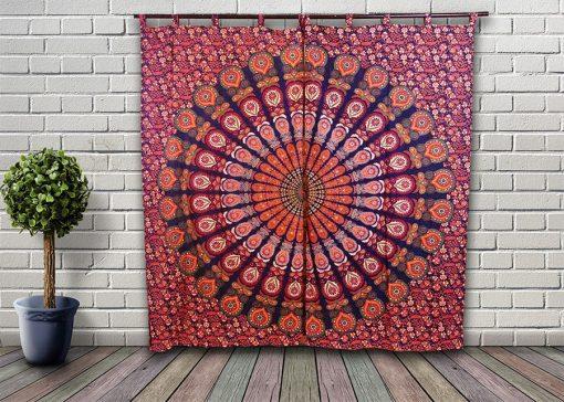 Rideau grande tenture indienne mandala