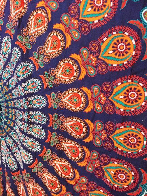 Rideau mandala fleur de vie multicolore pas cher