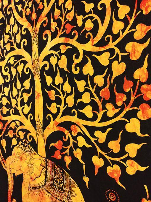 tenture murale elephant arbre de vie