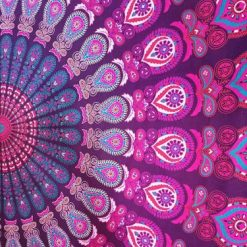 Tenture Murale Mandala Rose hippie pas cher
