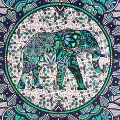Tenture Murale Indienne Elephant mandala