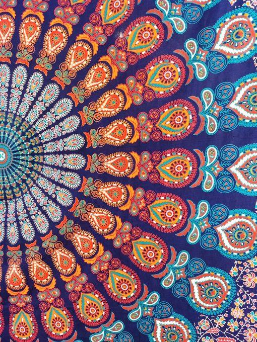 Tenture murale mandala psychedelique pour le yoga