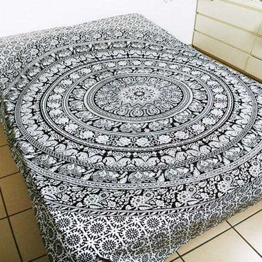 Tenture Murale Mandala Noir et Blanc pas cher