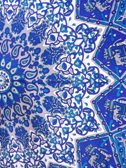 Grande Tenture Murale Mandala Bleu yoga