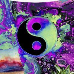 tenture psychedelique yin yang zen hippie