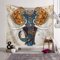 Tenture africaine elephant style batik