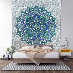 Tenture murale boheme fleur de lotus