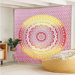 Tenture murale mandala rouge fleur de vie