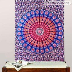 Tenture mandala mural psychedelique