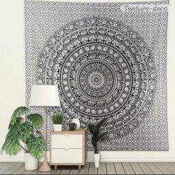 Tenture Mandala Zen Noir et Blanc
