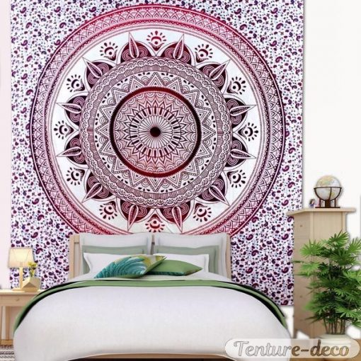 Tenture Murale Mandala Zen Rouge