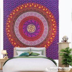 Tenture Indienne Mandala Mural Zen