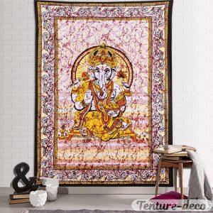 Tenture murale indienne elephant Ganesh
