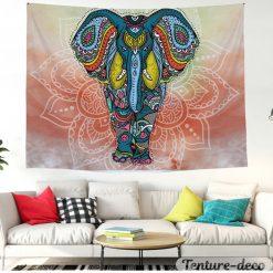 Tenture elephant hippie