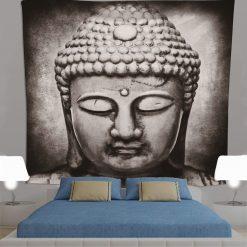 tenture statue de bouddha zen