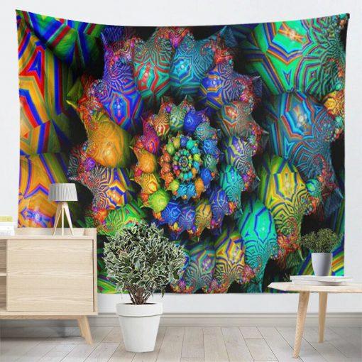 tenture psychedelique fluo spirale