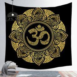 Tenture Mandala Om Hippie bouddhiste