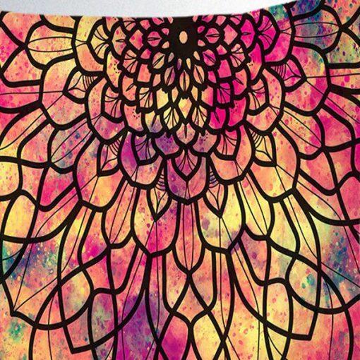 tenture murale mandala colore