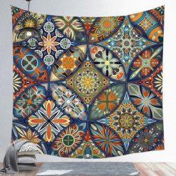 Tenture Mandala Floral Patchwork