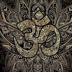 Tenture Mandala Om Lotus