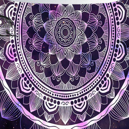 tenture murale mandala zen yoga colore