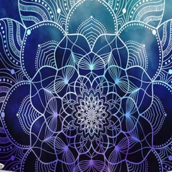 tenture murale mandala zen fleur de vie
