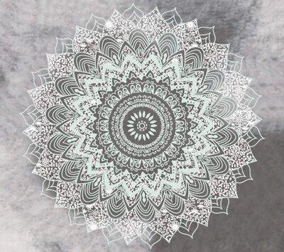 tenture murale mandala inde blanc
