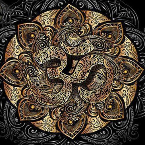 tenture murale mandala om zen