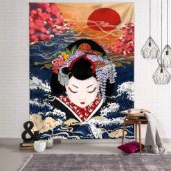 tenture murale japonaise geisha