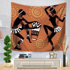 Tenture Murale Africaine Danse TamTam