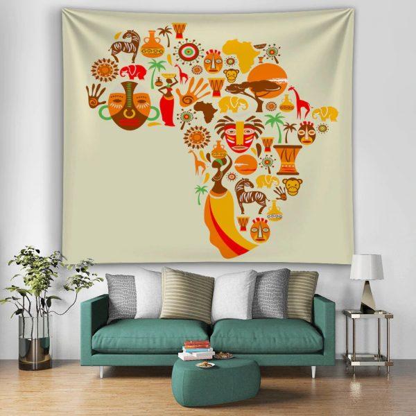 Tenture africaine carte afrique