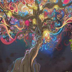 tenture murale arbre de vie feminine