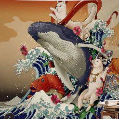 estampe japonaise baleine