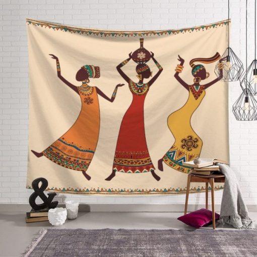 Tenture Murale Danse Africaine