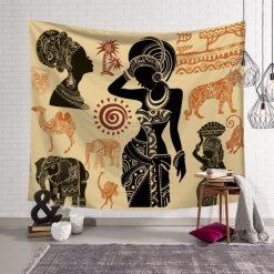 tenture murale africaine femme tribal