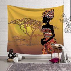 Tenture murale africaine savane