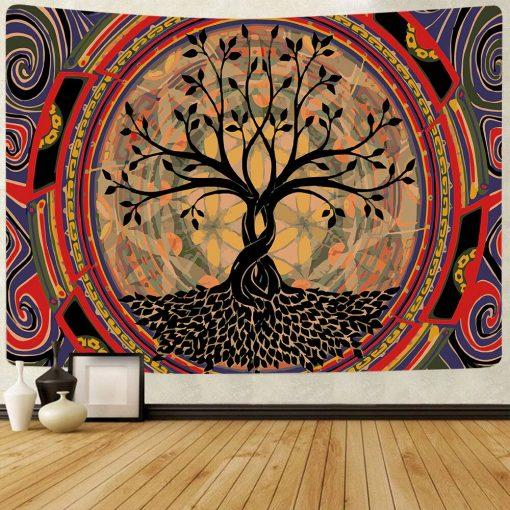 tenture murale arbre de vie maya