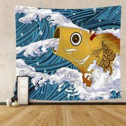 tenture murale japonaise arowana