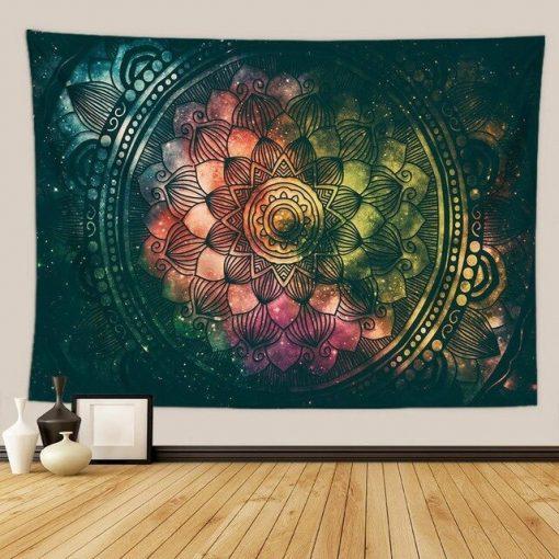 tenture murale mandala univers