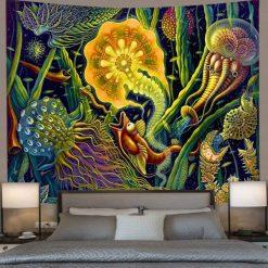 Tenture murale psychedelique trippy ocean