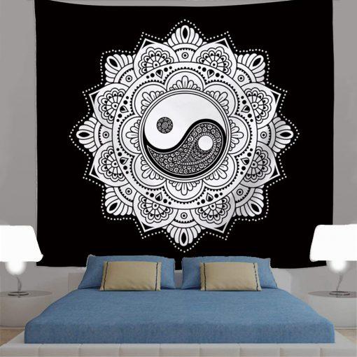 tenture mandala yin yang