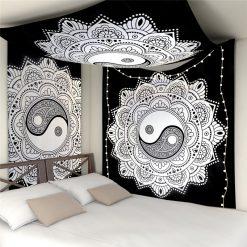 tenture murale zen mandala yin yang