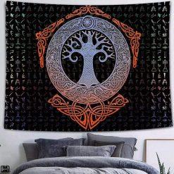tenture arbre de vie tribal