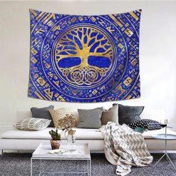 tenture murale arbre de vie yggdrasil