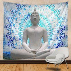 tenture bouddha lotus mandala
