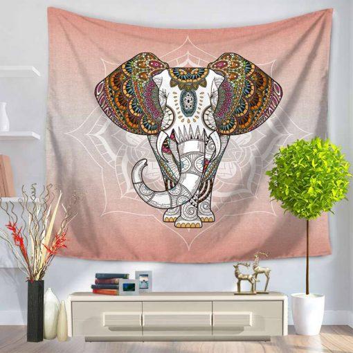 tenture elephant colore lotus