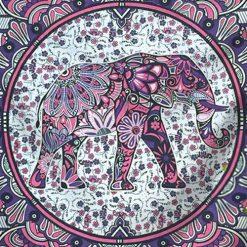 Tenture murale elephant mandala
