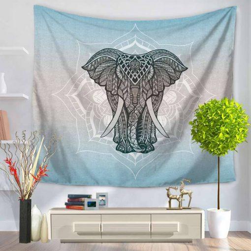 tenture elephant zen fleur de lotus