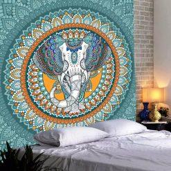 tenture indienne elephant mandala